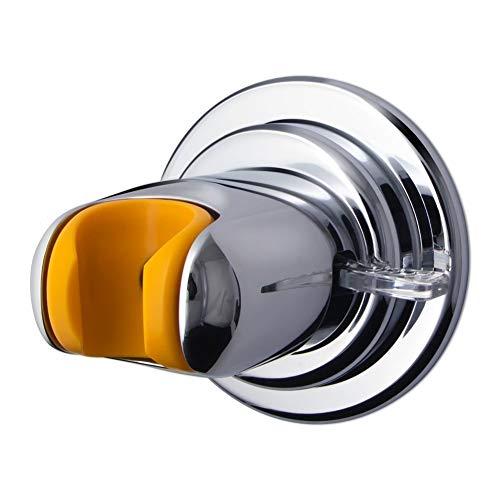 Shower Head Holder, QM-STVR Adjustable Vacuum Suction Cup Shower Holder, Reusable Shower Head Wall Mount Bracket, Handheld Shower Head Wand Sprayer Holder - Chrome by QM-STVR
