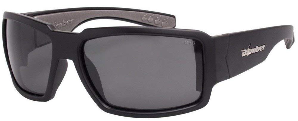 d9eed40426 Amazon.com  Bomber Eyewear BG103GMGF Non-Polarized Boogie Bomb Safety Glasses  Matte Black Frame Green Mirror Lens  Sports   Outdoors