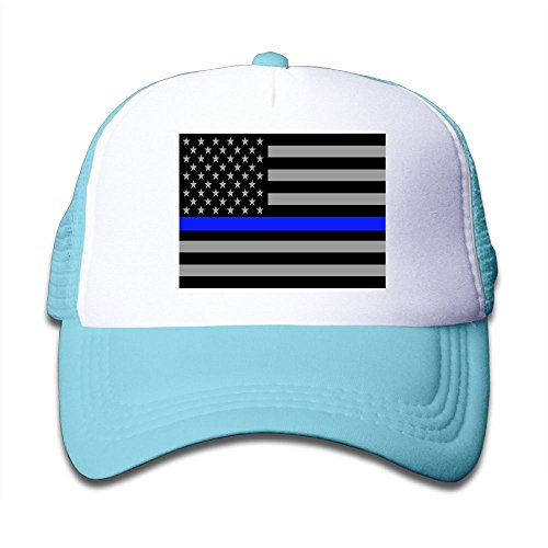 hot Futong Huaxia Blueline Flags Boy & Girl Grid Baseball Caps Adjustable sunshade Hat For Children