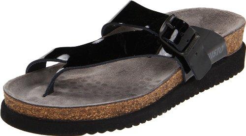 Mephisto Women's Helen Thong Sandal,Black Patent,8 M US (Patent Thong Sandal)