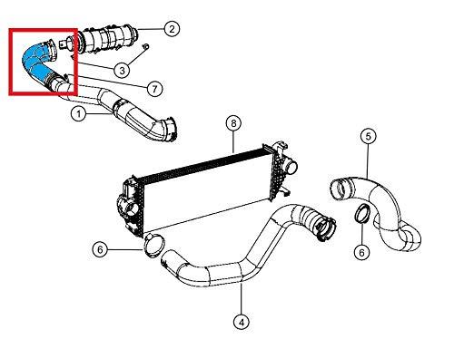 Tubo intercooler in silicone per Grand Cherokee 3.0CRD 2011-2015 52014481AA
