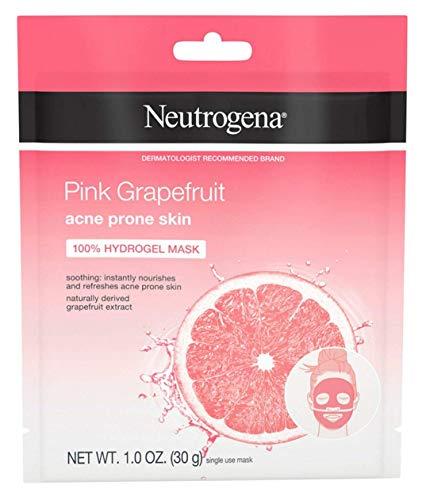 Neutrogena Acne Mask Hydrogel Pink Grapefruit 1 Ounce (12 Pieces)