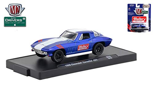 18 1966 Dodge Charger - M2 Machines 1966 Chevrolet Corvette 427 (Mallory Ignition) Auto-Drivers Release 55 - Castline 2019 Special Edition 1:64 Scale Die-Cast Vehicle & Custom Display Base (R55 18-34)