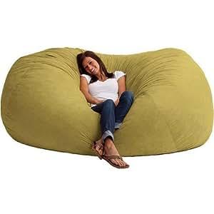 comfort research xxl 7 39 fuf comfort suede bean bag sand dune color model 0001181. Black Bedroom Furniture Sets. Home Design Ideas