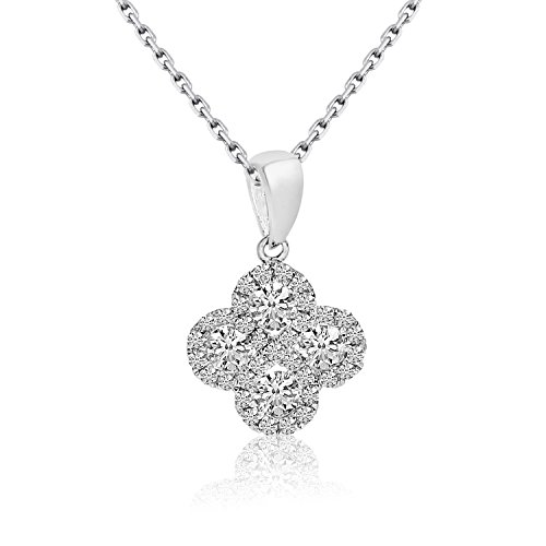 0.37 Carat (ctw) 14k White Gold Round Diamond Women