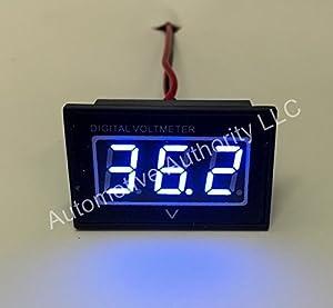 Automotive Authority LLC® 36V Golf Cart Digital Volt Meter Battery Gauge Club Car EZGO Yamaha 36 Volts - BLUE