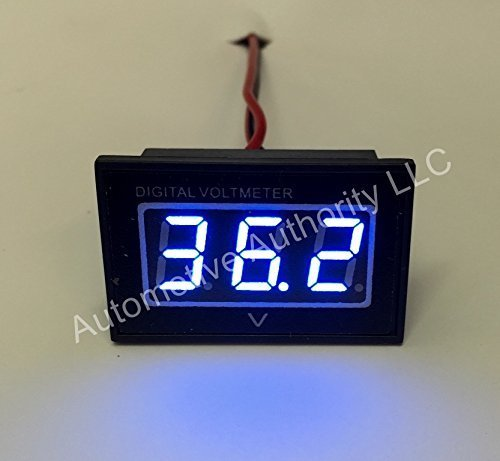 Automotive Authority LLC® 36V Golf Cart Digital Volt Meter Battery Gauge Club Car EZGO Yamaha 36 Volts - (36 Volt Battery Meter)
