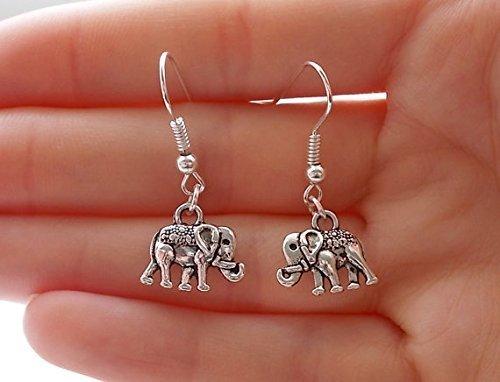 Orecchini a forma di elefante, argento orecchini elefante gioielli, orecchini moda, regalo per le donne
