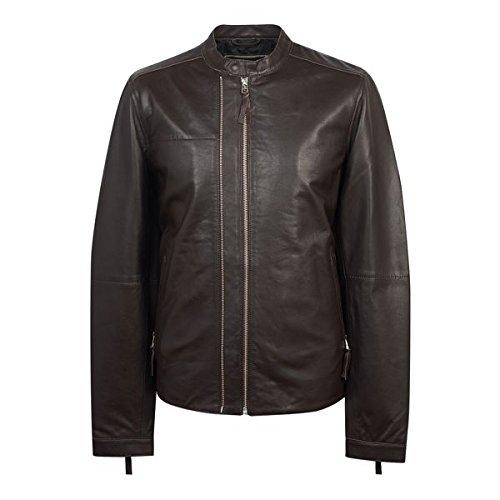 プレティグリーン メンズ ジャケット&ブルゾン Zip Up Leather Biker [並行輸入品] B07D48KPZ3  Medium