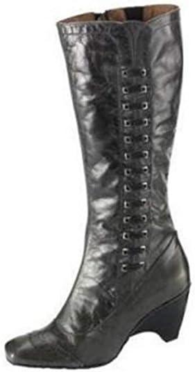 Botas de Virus Cuero en antracita - Antracita, mujer, 36: Amazon.es: Zapatos y complementos