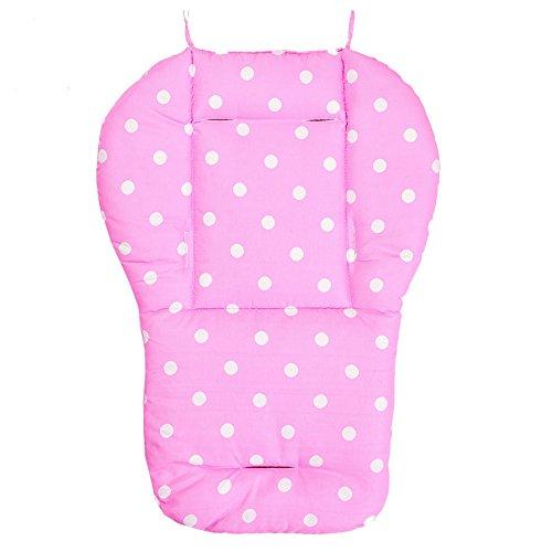 cojin de asiento de carrito de nino TOOGOO R Funda de algodon almohada de asiento de grueso de cochecito infantil de bebe rosado