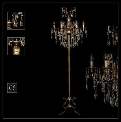 Neuerraum Art Nouveau Crystal Floor Standing Lamp Heavy Metal Construction Real Crystal Hangings Height 167 Cm Illustration Antique Gold Silver Coloured Can Be Ordered Amazon Co Uk Kitchen Home