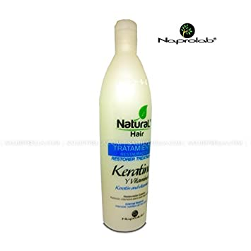 Natural Hair Keratin and Vitamin E | Naprolab | 16oz (500ml)