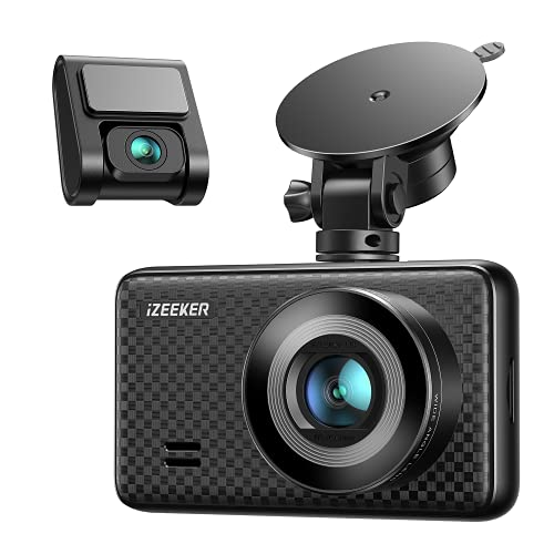 iZEEKER 2.5K UHD Dual Dash Cam Front and Rear, 3