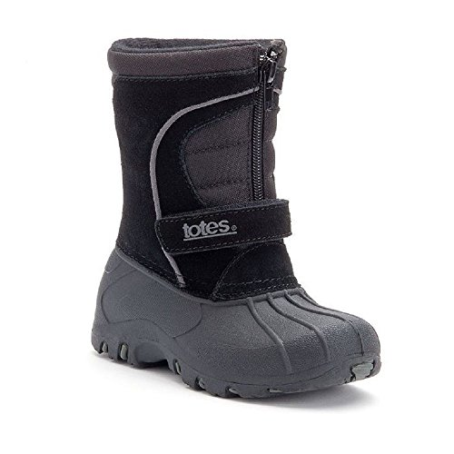 Totes Travis Black Winter Boots - Toddler Boys