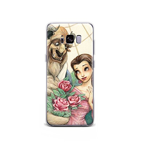 GSPSTORE Moto Z2 Force Case Beauty and The Beast Disney Cartoon Soft Transparent TPU Protector iPhone Case Cover for Moto Z2 Force