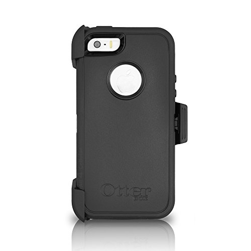 OtterBox DEFENDER SERIES Case for iPhone 5/5s/SE - Retail Packaging - BLACK