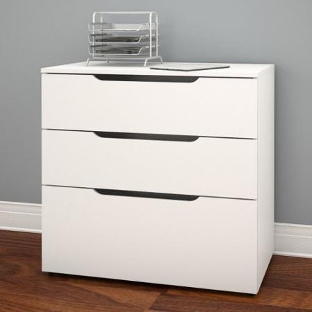 Nexera Arobas 3 Drawer File Cabinet - White