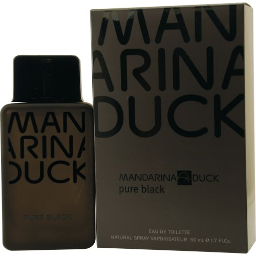Mandarina Duck Pure Black Eau De Toilette Spray for Men, 1 7