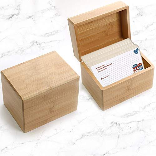 (Natico Storage Recipe Box, Brown (100-19370))