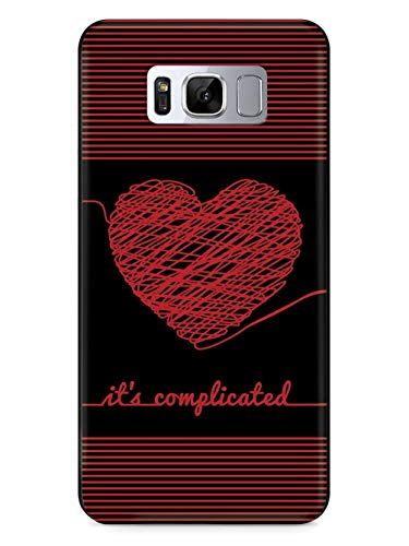 Inspired Cases - 3D Textured Galaxy S9 Case - Protective Phone Cover - Rubber Bumper Cover - Case for Samsung Galaxy S9 - Chaos Doodle Heart - It's Complicated - Black Case