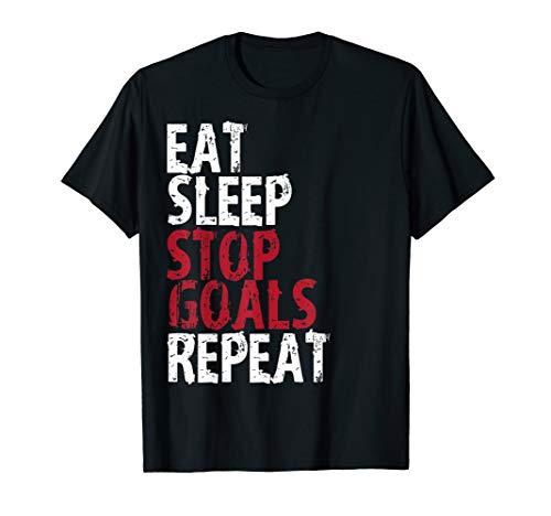 Eat Sleep Stop Goals Repeat Soccer Hockey Sport ()