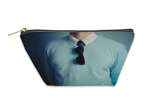 Gear New Accessory Zipper Pouch, Smart Young Man With Sunglasses, Large, - Go Cambridge Glass