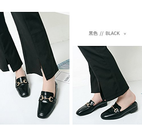 Leather School Loafers Shoes Office Speedeve Casual Women's Black Moccasins Work IX4w1xBq