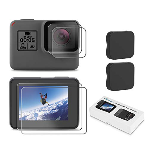 For Gopro Hero 7 6 5 Camera Accessories Lens /& Screen Protector Tempered Glass