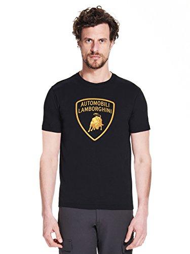LAMBORGHINI Men's Large Shield T-Shirt, Black (XL)