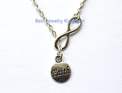 - Infinity Necklace, Silver Infinity Jewelry,Faith Necklace Stamped Jewelry Faith Jewelry Faith Tag Necklace Faith Pendant Necklace Faith Charm Necklace Religious Jewelry Spiritual