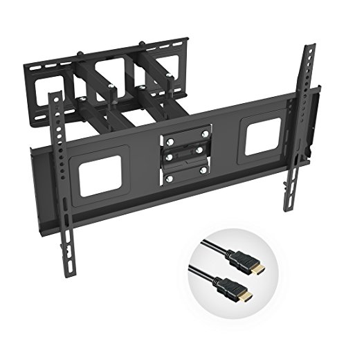 Fleximounts TV Wall Mount Bracket for 32-65 inch TV, Full Motion Articulating Arms with Tilting Swivel, Max VESA 600x400mm and 132 lbs(match some 70