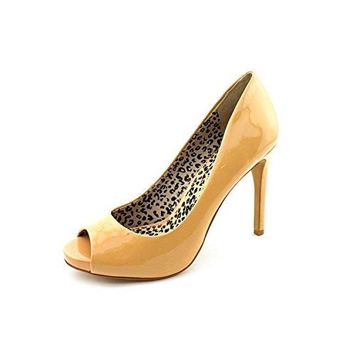 Jessica Simpson Peep Toe Pumps (Jessica Simpson Women's Saras Open-Toe Pump, Nude Patent, Size 10.0)