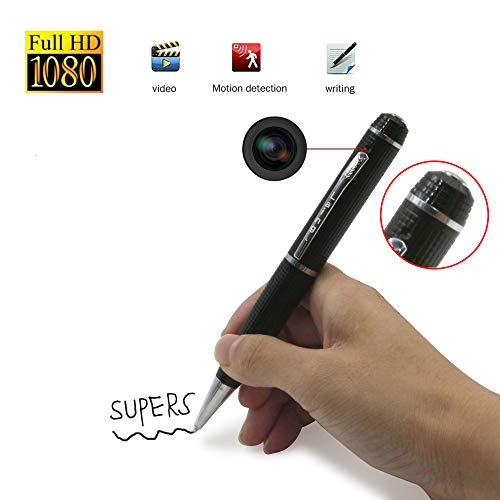 Hidden Camera Pen Mini DV- HD Digital Cam USB Portable 1080P Video Resolution Multifunction Photo Silver @Laing-H