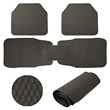 Uniqus Environmental Non-Slip Silicone Car Mats Set(Grey)