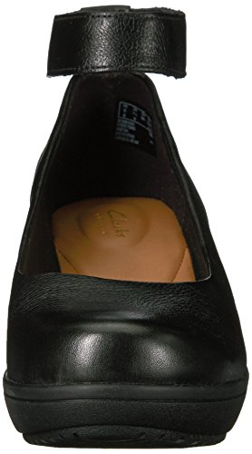 CLARKS Women's Wynnmere Fox Ankle Wedge Pump Black fake sale online outlet top quality buy cheap view B68QO9wBUO