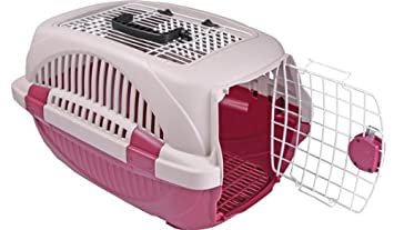 Choco Nose H315 Durable Two Doors Top Load Pet Travel Kennel, Carrier, Crate for Pets Under 12 Lb, Small to Mini Sized Dog, Cat, Rabbit, Chinchilla. Portable Water Bottle Pet Bowl
