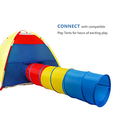 WolfWise Play Tent Tunnel Pop-up Children Tunnel Kids Portable Discovery Toy Tube, 6 Feet, 210D Oxford, Multi-color