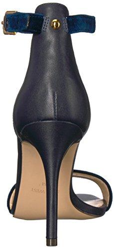 Navy Women's Sandals West Nine MANA Velvet Fashion 1xXw1O54