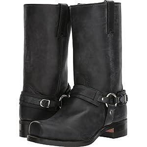 Frye 87250 Men's Harness 12R Belted, Black Wide - 7.5-W