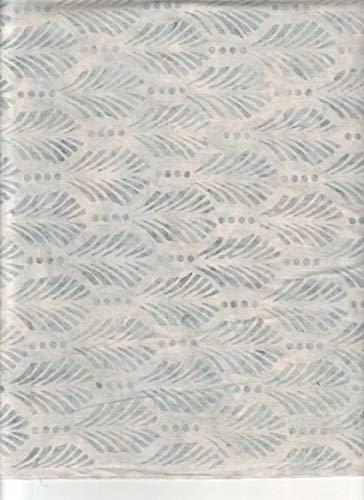 "Gun Metal Grey Plume Feathers Stamped Batik Blender ~ Half Yard ~ by Wilmington ~ Patt: 22125 Color: 911 ~ Tie Dye (Ikat) Bali Batik Quilt Fabric 100% Cotton 45"" Wide"