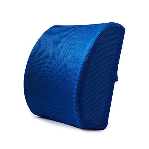 iCODOD Lumbar Pad,Back Cushion Waist Pillow Office Pillow Car Pillow Support Pillow Chair Car Seat Blue Ease Lower Back Pain US Shipments (Blue, 32x34x2CM)
