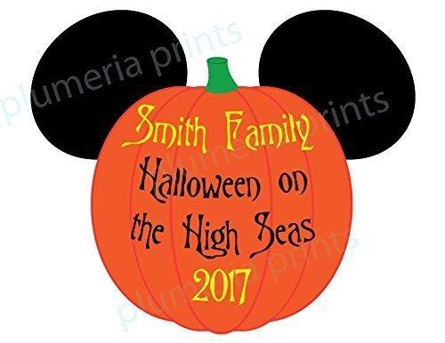 HANDMADE Disney Inspired Large Halloween Pumpkin Mouse Head Family Magnet for Disney Cruise -