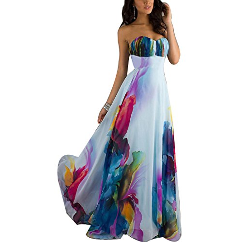 Cnl the best amazon price in savemoney abuyall lady straplss backless color printing party beach maxi dress wt cnl malvernweather Choice Image