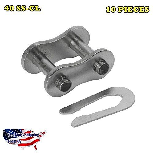 - 40 SS Stainless Steel Roller Chain Connecting Link (10PCS)