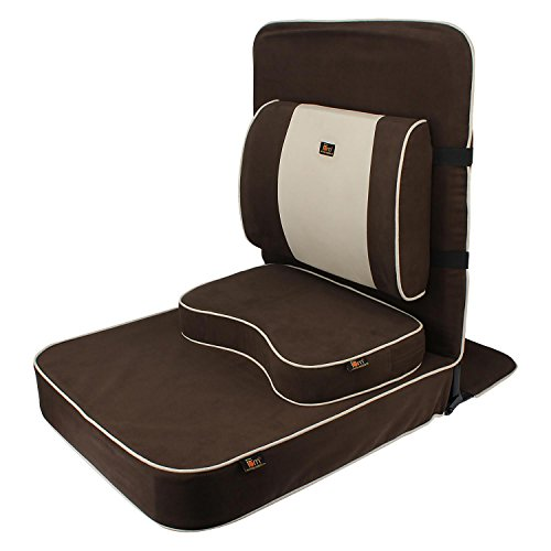 Friends of Meditation Extra Large Relaxing Buddha Meditation and Yoga Chair with backsupport and meditation block (Brown)