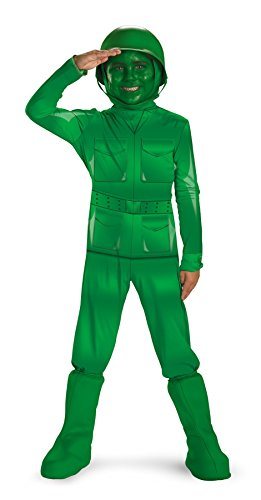 [UHC Boy's Green Army Man Deluxe Kids Child Fancy Dress Party Halloween Costume, 3T-4T] (Army Men Halloween Costumes)