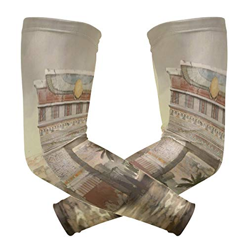 Perfectly Customized Arm Sleeves Ancient Egyptian Art and Culture Mens Sun UV Protection Sleeves Arm Warmers Cool Long Set Covers