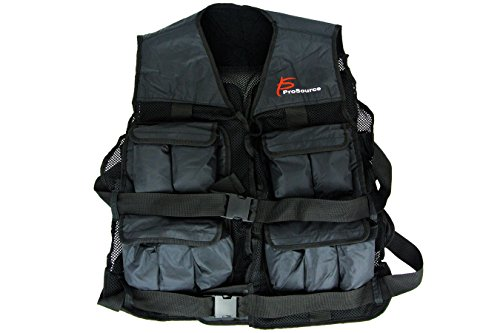 ProSource 20lb Weighted Unisex Workout Vest Training Fitness 20 pounds lb Adjustable Weight by ProSource