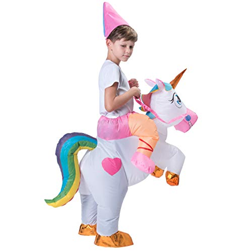 Spooktacular Creations Inflatable Riding a Unicorn Air Blow-up Deluxe Costume - Child One Size Fits 4-8yr (40''-52'' Height) by Spooktacular Creations (Image #7)